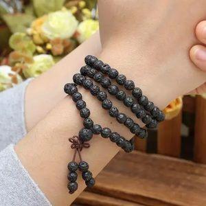 Lava Stone Meditation Mala Necklace/bracelet